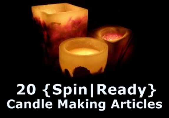 Product picture 20 Candle Making Spin-Ready Articles